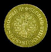 златник српског краља Стефана твртка 1 реверс