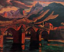 Лазар Дрљача коњицки стари мост 1930