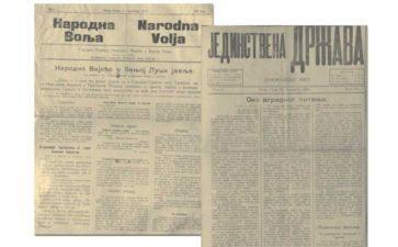 """""""ГЛАС СРПСКЕ"""" ЗАПИСИ ИЗ АРХИВА – Штампа у Босанској Крајини (1906-1941):Народна воља први бањалучки лист"""