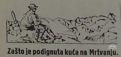 Славијина колиба на Бјелашници 1923.